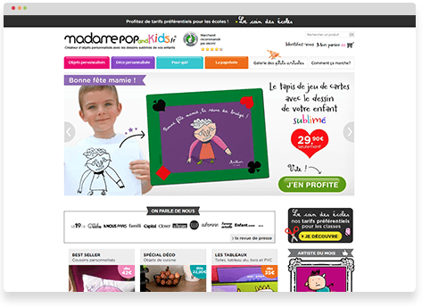 Madame Pop & Kids site client Selldorado